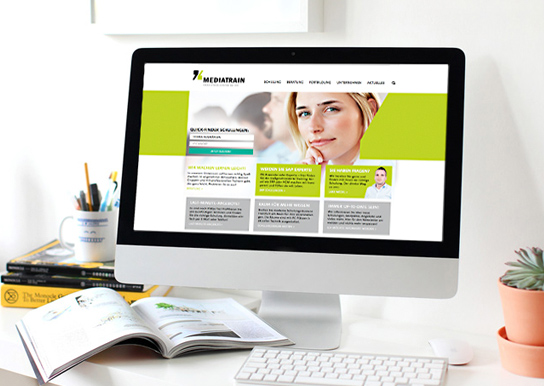 MediaTrain, responsive Website
